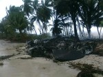 Debris is seen on Indonesia's Sipora island following